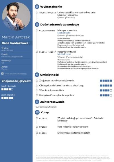 CV sprzedawcy wzór