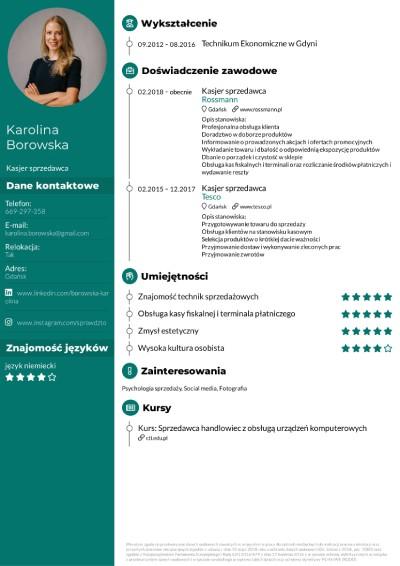 sprzedawca CV